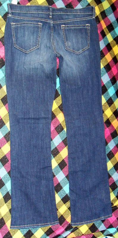 джинсы, вид сзади