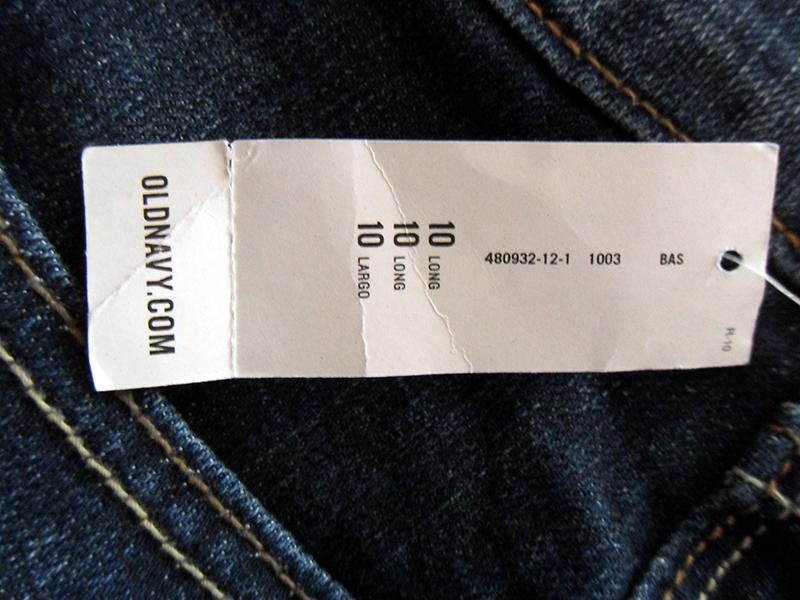 На этикетке указан размер 10 Long