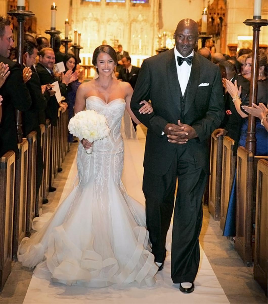 Майкл Джордан со своей новой женой Иветт Прието