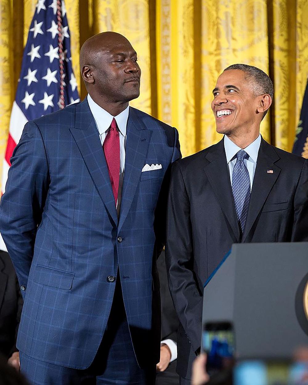 Майкл Джордан и Барак Обама