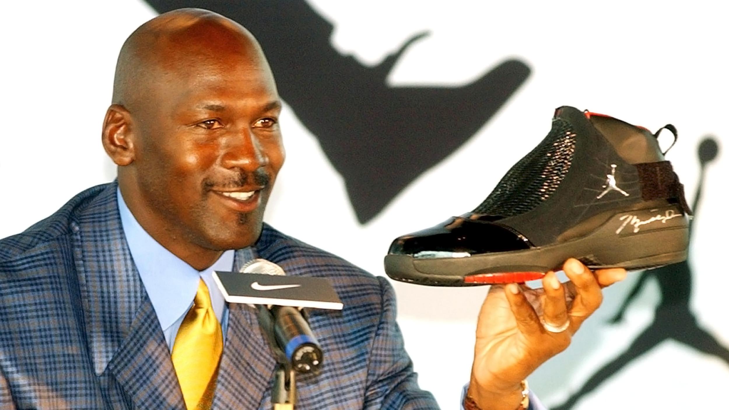 Майкл Джордан представляет новую модель кроссовок Air Jordan