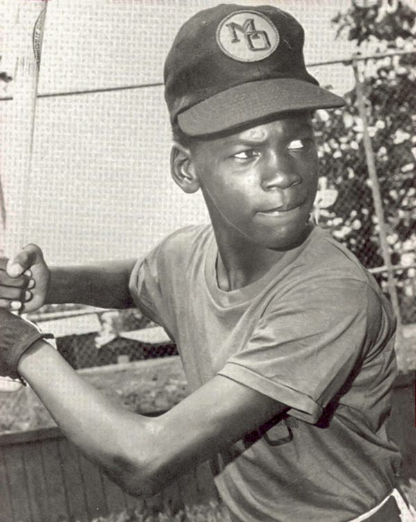 Юный бейсболист Майкл Джордан